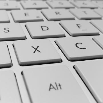 dettaglio di tastiera di computer